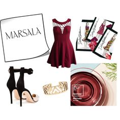 Marsala by gabriela-kiteva on Polyvore featuring Gianvito Rossi, Lucky Brand and Dolce&Gabbana