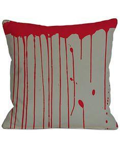 Rue La La — Blood Drips Decorative Pillow