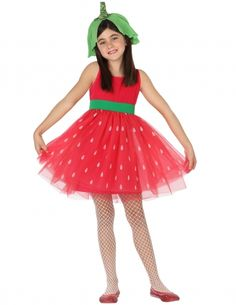 Déguisement fraise fille Carnival Costumes, Halloween Costumes, Kids Sites, Fruit Crafts, Kids Dress Up, Special Kids, Tulle, Color Rosa, Pageant