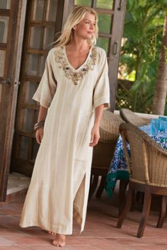 .Soft Surroundings - source for fabulous caftans (on sale the prices are outstanding, especially)!  Have several, want/plan more!