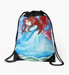 Winter Bringer Drawstring Bag Fashion Art, Autumn Fashion, Winter Fairy, Green Palette, Winter Solstice, Winter Landscape, Christmas Art, Winter Time, Pouch