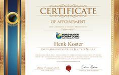 Certificate Henk Kos