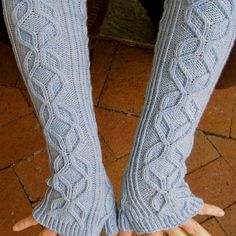 Knit Mitt Pattern  Mt. Blanc Long by WearableArtEmporium on Etsy, $6.50