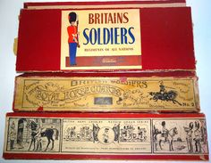 Lot 385 - Britains and a few other original Boxes, Lids and Labels
