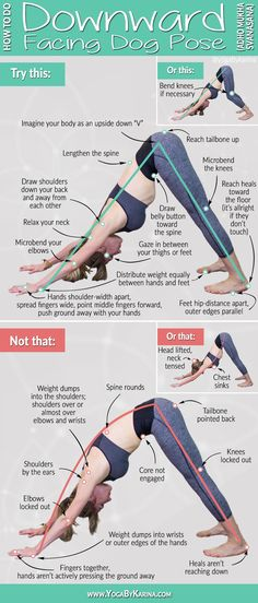 How to Do Downward Facing Dog Pose Yoga Instructions and Common Mistakes