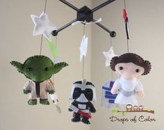 Awesome Etsy shop for clever handmade baby mobiles. Love this Star Wars one!