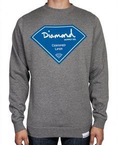 Diamond Supply Co. - Certilifer Crewneck Sweater - $60