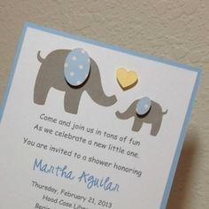 Elephant Baby Shower Invitations  Elephant by JillyBearDesigns, $32.00
