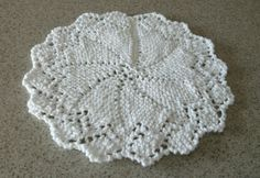 White hand knitted dishcloth or doily by grannysknitsnthings, $2.25
