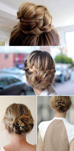 Hair braids and buns.