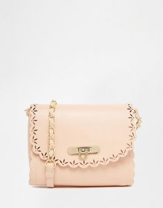 ASOS Scallop Cross Body Bag With Laser Cut Out