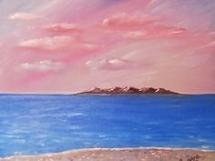 The Island by JustJoszie on Etsy, $250.00 Paintings For Sale, Clouds, Island, Trending Outfits, The Originals, Studio, Handmade, Gifts, Outdoor