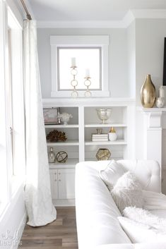Welcome To Our Bright White Living Room #whiteinteriors #brightwhitehomeseries #summeradamsdesigns #interiors #interiordesignideas #interiordecor #interiordesigner #WhiteInspiration Coastal Living Rooms, Living Room White, Living Room Art, Living Room Interior, Coastal Cottage, Coastal Homes, Easy Home Decor, Home Decor Trends, Boudoir