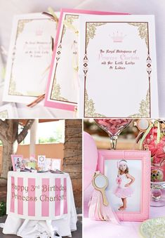 Royal Princess themed party - cute idea - a storybook/fairytale with the birthday girl as the star