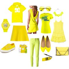 """""""Carnival of yellow"""" by majorbori on Polyvore"""