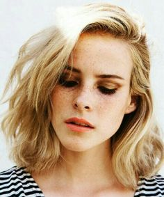 Blond natural short hair