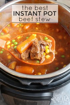 With the Instant Pot, you can whip up The Best Instant Pot Beef Stew in no time. Just throw it all in and push go. No need to brown the meat either!