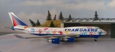 Transaero Boeing 747-400 EI-XLK 1:500 Sky500 & Herpa Wings Katalog UK*
