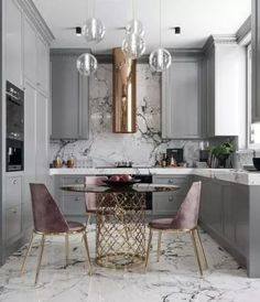 A great look for a small kitchen. Soft a dusty colors. By Nama interior design … A great look for a small kitchen. Soft a dusty colors. By Nama interior design. Home Decor Kitchen, Interior, Kitchen Remodel, Kitchen Decor, Interior Design Kitchen, House Interior, Home Kitchens, Home Interior Design, Kitchen Design