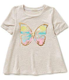 Copper Key Big Girls 716 Foiled Butterfly ShortSleeve Knit Tee #Dillards