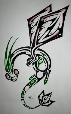 Tribal Flygon by Esmeekramer on DeviantArt