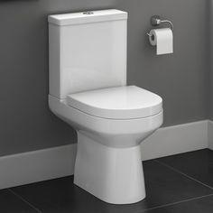 Cesar III Close Coupled Toilet & Cistern inc Soft Close Seat [PT-CT623CCT] - £199.99 : Platinum Taps & Bathrooms