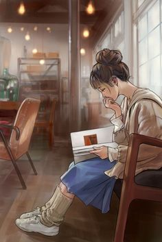 Image uploaded by Marie-Laure. Find images and videos about girl, art and anime on We Heart It - the app to get lost in what you love. speedos honda som installs camera fuckdown behavioral i limke se ஐღ♡ღஐ Anime girl, reading a book. Art Anime Fille, Anime Art Girl, Anime Girls, Manga Girl, Sad Girl Art, Girl Cartoon, Cartoon Art, Character Illustration, Illustration Art