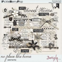 NO PLACE LIKE HOME | elements by Bellisae Designs