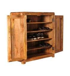 Cayenne Wooden Shoe Rack With Shelves By Mudra Online   Shoe Racks    Furniture   Pepperfry