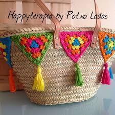 Risultati immagini per canastos tejidos al crochet Mandala Au Crochet, Crochet Motif, Knit Crochet, Crochet Patterns, Crochet Bunting, Crochet Accessories, Bag Accessories, Crochet Projects, Sewing Projects