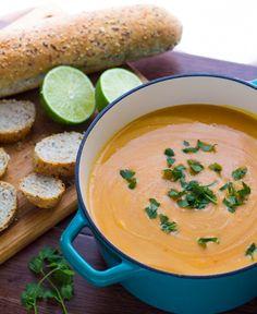 Thai Curry Sweet Potato & Lentil Soup  #glutenfree