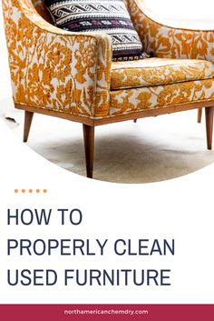 Do you know how many germs are on a used piece of furniture? What about the smell? Make sure that you clean your previously owned furniture before you bring it into your home. Upholstery Cleaning, Furniture Cleaning, How To Clean Furniture, Furniture Upholstery, How To Clean Carpet, Cleaning Hacks, Couch, Blog, Home Decor
