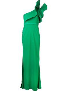 LANVIN - one shoulder robe dress