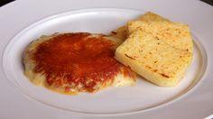 frico di montasio with polenta #FVG #Trieste #bestoftrieste