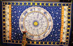 Royal Blue Zodiac Twin Tapestry