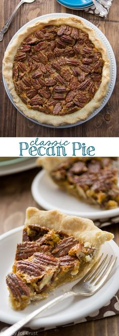 This Easy Classic Pecan Pie is my mom's recipe! It's perfect for Thanksgiving!