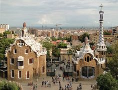 Barcelona, Spain.  Park Guell - Designed by Antoni Gaudi.  Must see.