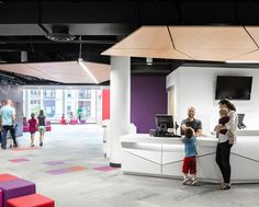 SoundPly's wood acoustic ceiling panels are perfect for acoustic clouds as they don't warp and are lightweight! Architect: MSR Design SoundPly by Navy Island Inc. #mnchildrensmuseum #powerofplay #SoundPly Wood Ceiling Panels, Acoustic Ceiling Panels, Wood Ceilings, Sound Absorption, Energy Use, Showcase Design, Public Relations, Architecture Design, Clouds