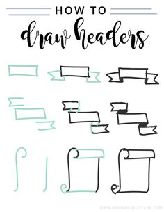 Draw headers bullet journal writing styles, bullet journal fonts hand lettering, bullet journal tips Bullet Journal Headers, Bullet Journal Banner, Bullet Journal Inspiration, Bullet Journals, Journal Layout, My Journal, Journal Fonts, Journal Diary, How To Make Banners