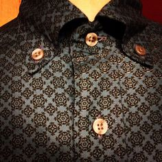 Beautiful roll collar shirt made in Manchester, James Darby