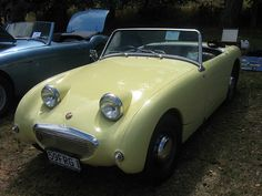 "Austin Healey ""Bugeye"" Sprite.  My brother Hal had one, Pam and I had one and a Mark III that looked like an MG Midget."