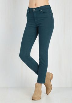 Solid Sense of Style Jeans in Lagoon - Blue, Denim, Solid, Casual, Skinny, Fall, Good, Exclusives, Variation, Mid-Rise, Ankle, Winter
