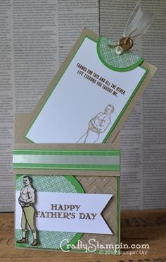 Guy Greetings Pull Card by linstamper - Cards and Paper Crafts at Splitcoaststampers