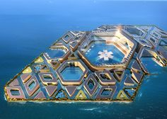 The blueprint for this floating city has just been approved by the largest port construction and design company in China. It's entirely self-sustainable, and extends underwater.