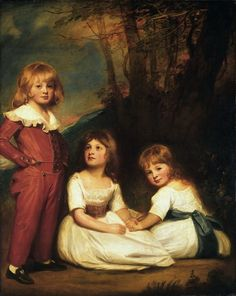 George Romney, English, 1734-1802 - Portrait of Mr.  Adyes Children (The Willett Children).  Philadelphia Museum of Art