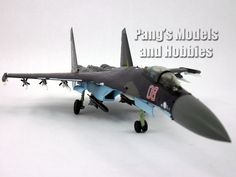 """1:72 Scale Metal Diecast – Sukhoi Su-35 Super Flanker – Length: 12"""" Wingspan: 8.25"""" This Su-35 Super Flanker (upgraded Su-27) model is a single seat plane. The landing gear can be posed as extended or"""
