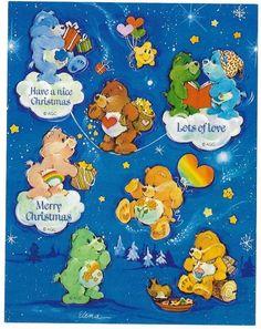 VTG 80s AGC Christmas Stickers - CARE BEARS