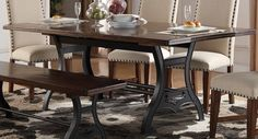 "Creston 84"" Dining Table - Morris Home Furnishings - Dining Room Table"