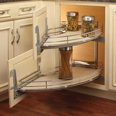 Rev-A-Shelf Curve Two-Tier Right-Handed Blind Corner Organizer