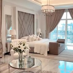 Modern Luxury Bedroom, Luxury Bedroom Design, Room Design Bedroom, Master Bedroom Interior, Bedroom Furniture Design, Home Room Design, Luxurious Bedrooms, Home Decor Bedroom, Master Bedroom Decorating Ideas